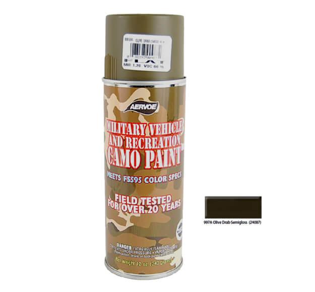 Aervoe Olive Drab Semi-gloss Camo Paint