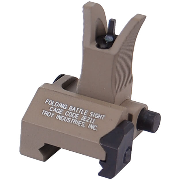 Troy Front Folding Battlesight M4 Style - Dark Earth