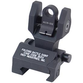 Troy Rear Folding Battlesight with Tritium - Black