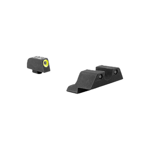 Trijicon Glock HD Night Sight Set - Yellow Front Outline 9mm,.40,.45,.357,.380