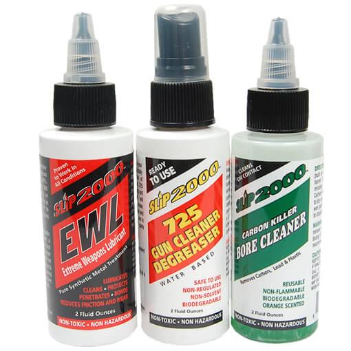 Slip 2000 Ultimate Clean 2oz 3-Pack - EWL Lube/725 Degreaser/Carbon Killer