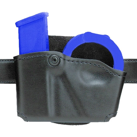 Safariland 573 Concealment Mag Paddle Holder Single w/ Cuff Pouch Right Hand Plain Black
