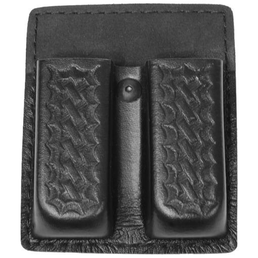 Safariland 75 Double Mag Pouch w/ out Flaps Basket Black Glock 17, 19