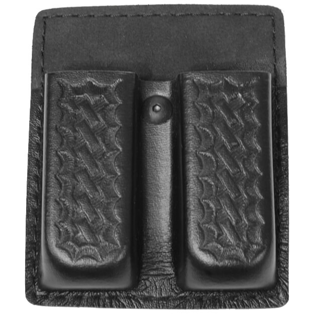 Safariland 75 Double Mag Pouch w/ out Flaps Basket Black Glock 20, 21