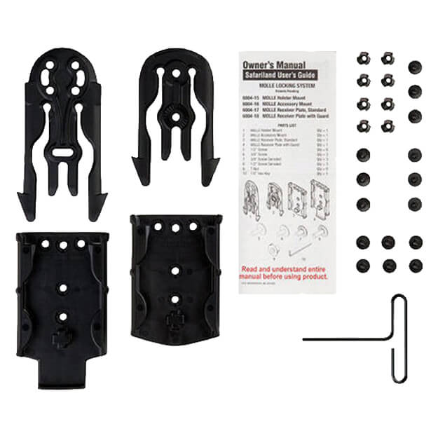 Safariland Molle Holster Kit Black - MLS 15, 16, 17, 18