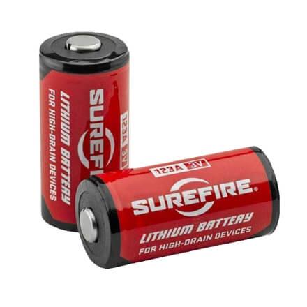 Surefire CR123A Lithium Batteries - 2 Pack