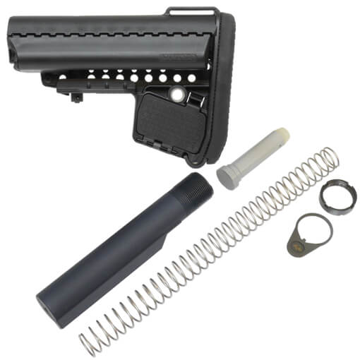 VLTOR Basic EMOD MilSpec Combo Stock Kit w/ Hardware - Black