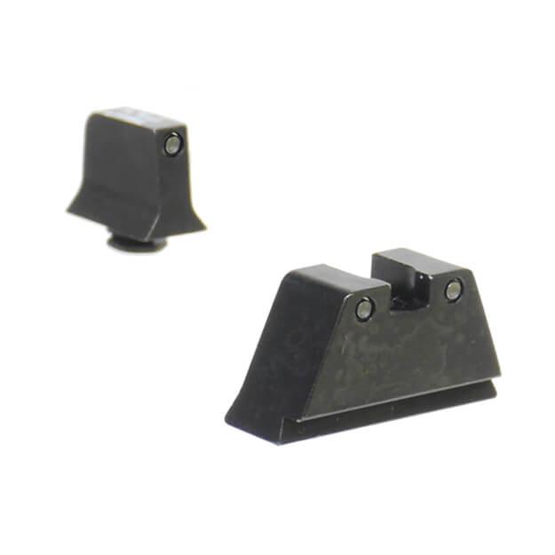 Trijicon Glock Suppresor Night Sight Set - Black Outline Green Lamp