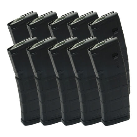 DSG Arms Mag Pack - 10 Black Magpul Non-Window Mags