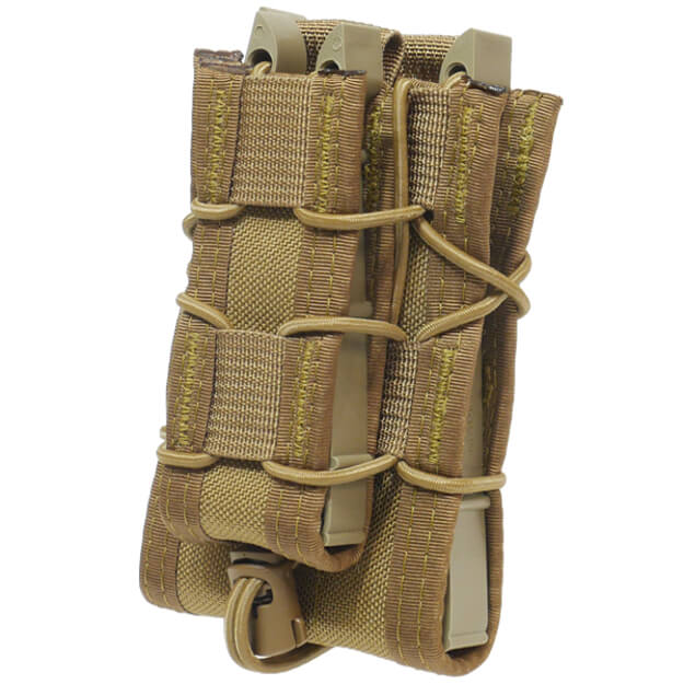 High Speed Gear Belt Mounted Double Decker Taco - Coyote Brown