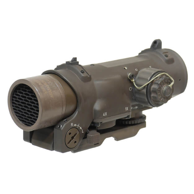 Elcan Specter DR Dual Role 1x/4x Optical Sight 7.62 BDC Reticle w/ ARMS Mount - Dark Earth