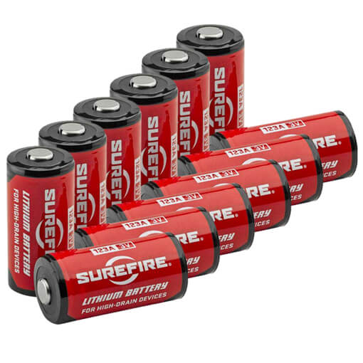 Surefire CR123A Lithium Batteries - 12 Pack