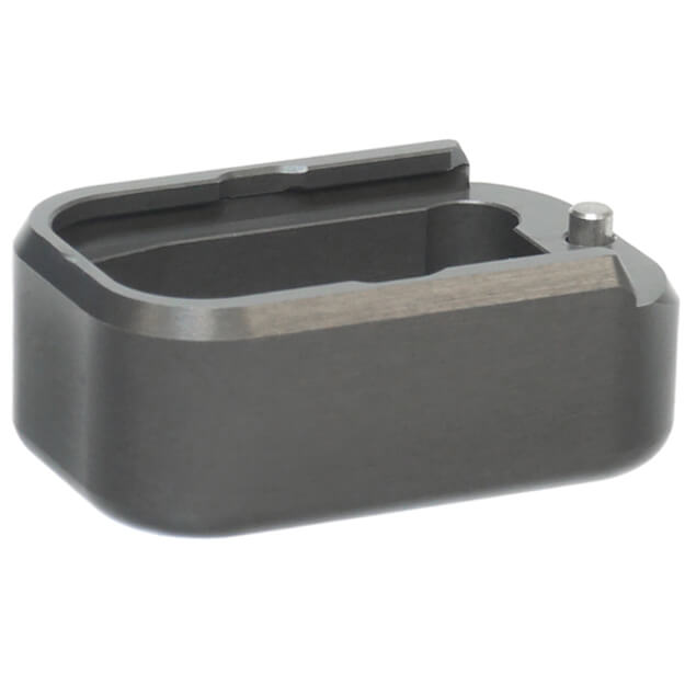 Taran Tactical Glock 43 +2 Base Pad - Titanium Grey