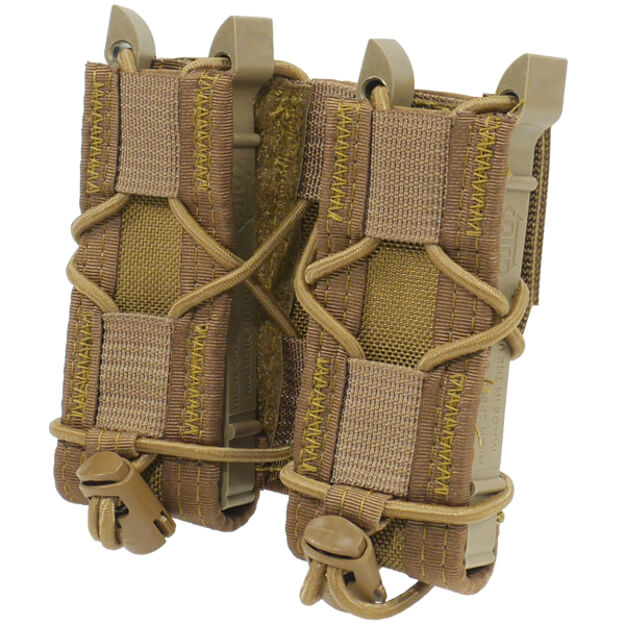 High Speed Gear Belt Mounted Double Pistol Taco - Coyote Brown
