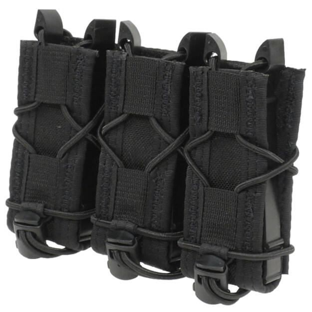 High Speed Gear Belt Mounted Triple Pistol Taco - Black