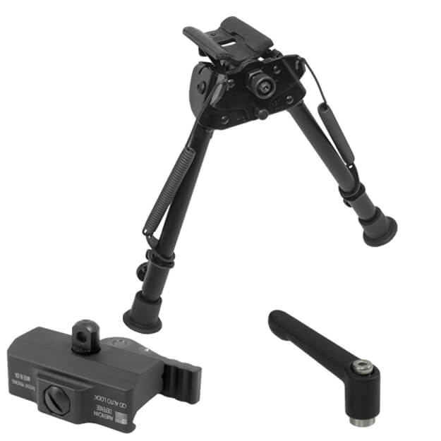 "Harris Swiveling Bipod 9""-13"" w/American Defense Bipod Mount & Tension Lever"