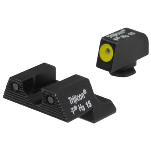 Trijicon HD Night Sight Set Yellow Front Outline - Glock 42/43