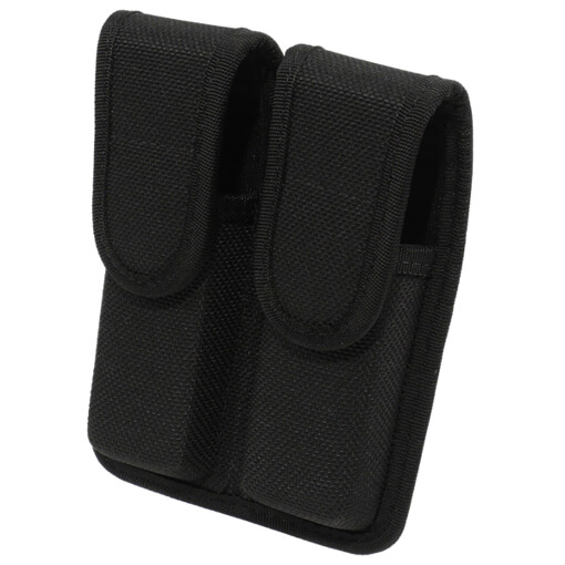 Bianchi Accumold 7302 Double Mag Pouch Black Size 2 w/Hidden Snaps