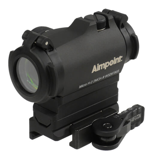 Aimpoint Micro H2 2MOA with American Defense Base and Riser - Absolute Co-witness