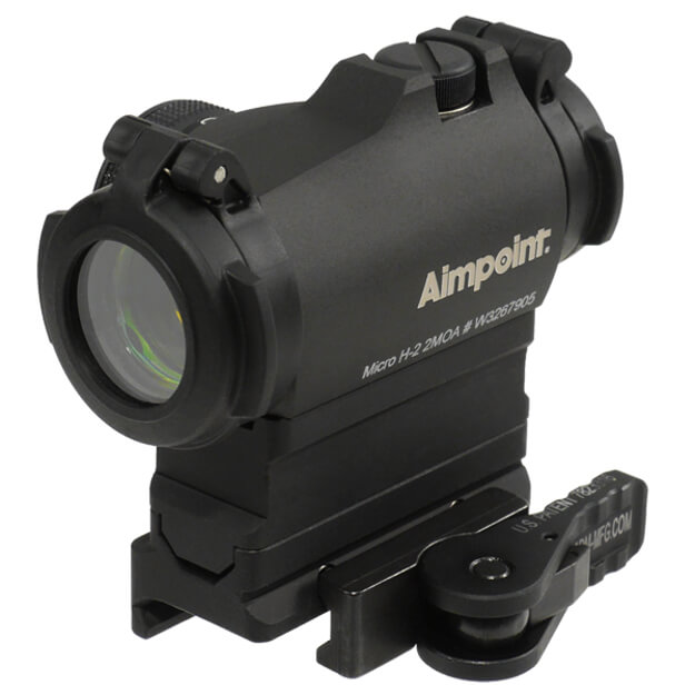 Aimpoint Micro H2 2MOA with American Defense Base and Riser - 1/3 Co-witness