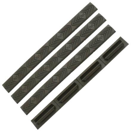ERGO M-LOK WedgeLok Slot Cover Grips 4 Pack - Olive Drab Green