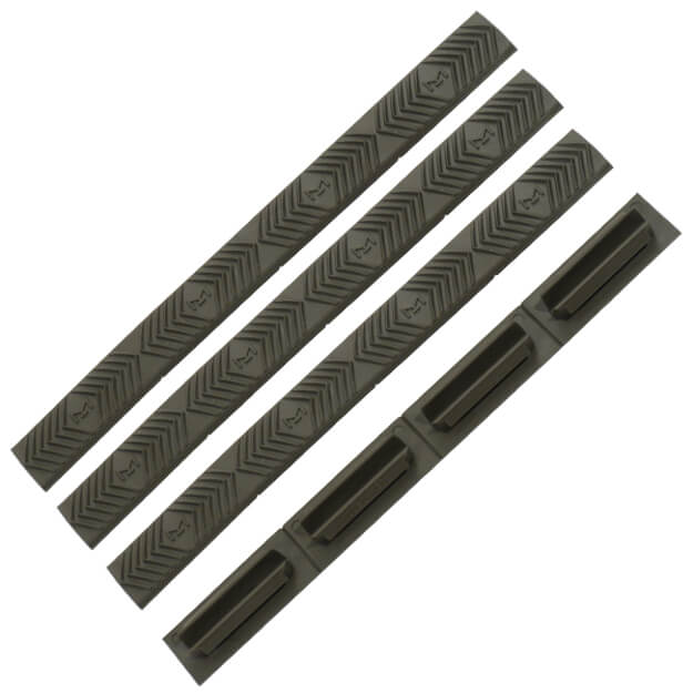 ERGO M-LOK WedgeLok Slot Cover Grips 4 Pack - Olive Drab Green