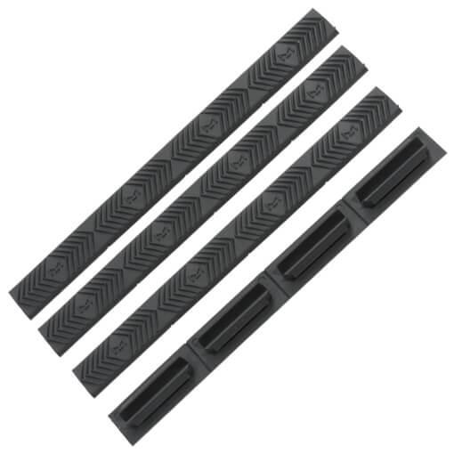 ERGO M-LOK WedgeLok Slot Cover Grips 4 Pack - Graphite Grey