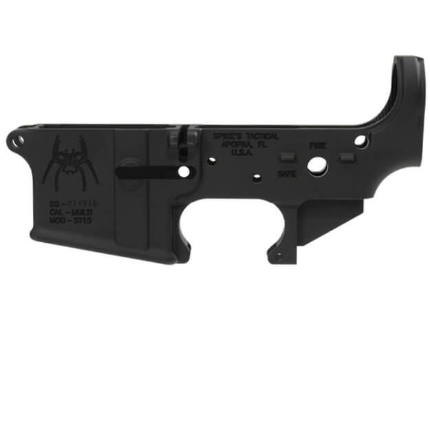 Spikes Tactical Stripped AR15 Lower Receiver w/ Safe/Fire Markings