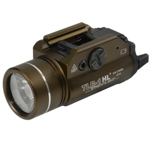 Streamlight TLR-1 HL 1,000 Lumen Weapon Light - Dark Earth Brown
