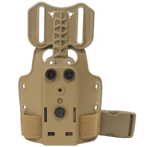 Safariland 6004-25-55 Single Strap Leg Shroud w/Drop Flex Adapter - Dark Earth
