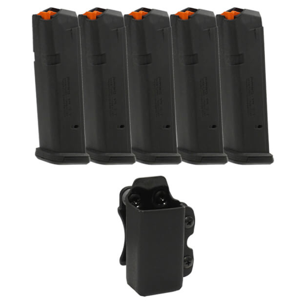 MAGPUL PMAG 9MM Glock 17 Magazine 5 Pack w/CDC Mag Carrier