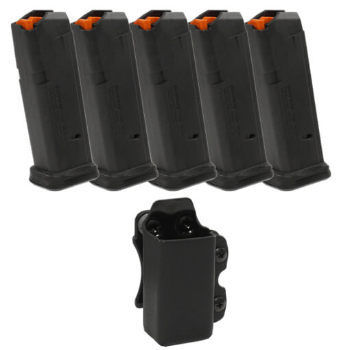 MAGPUL PMAG 9MM Glock 19 Magazine 5 Pack w/CDC Mag Carrier