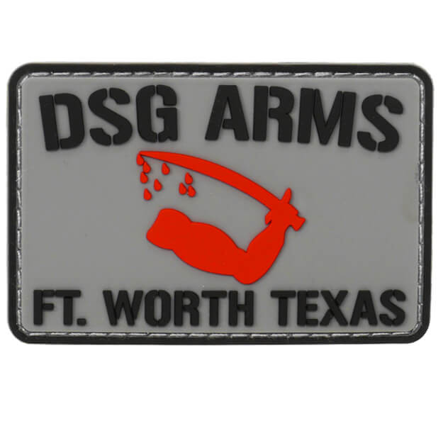 DSG Arms Goliad Flag PVC Patch - Black/Grey