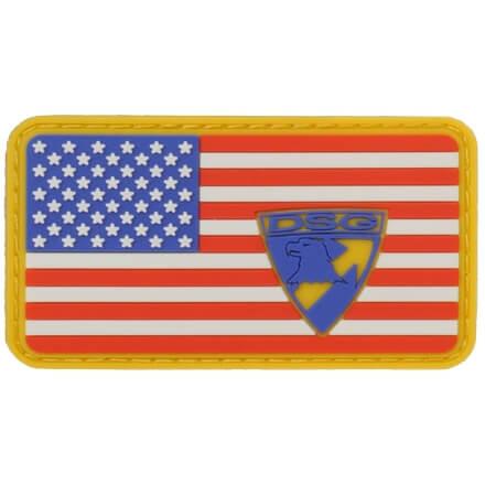 DSG American Flag PVC Patch - Red/Blue