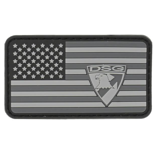 DSG American Flag PVC Patch - Black/Grey