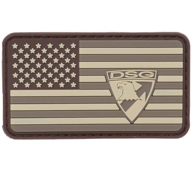 DSG American Flag PVC Patch - Brown/Tan