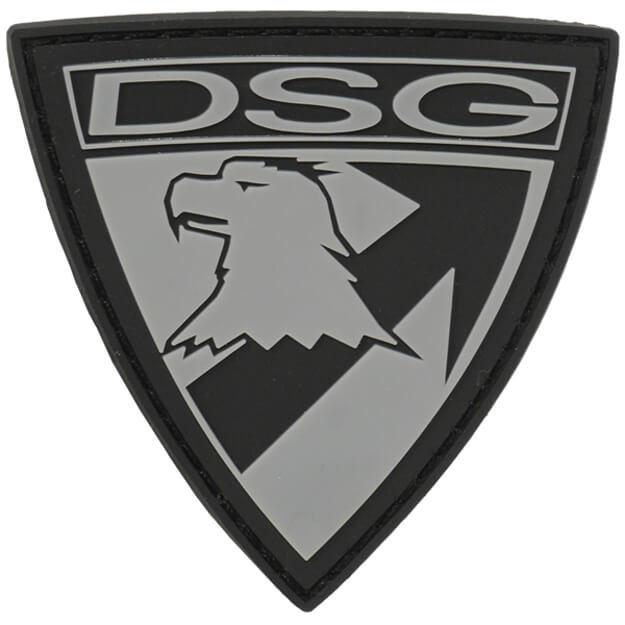 DSG Badge PVC Patch - Black/Grey