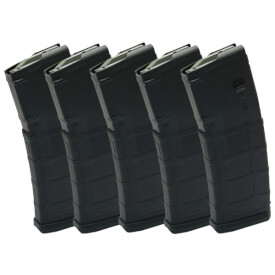 DSG Arms Mag Pack - 5 Black Magpul Non-Window Mags