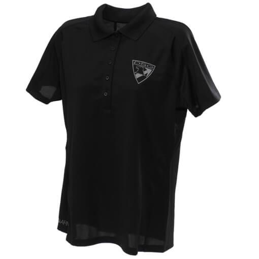 DSG Arms Ladies Badge Polo Shirt - Black