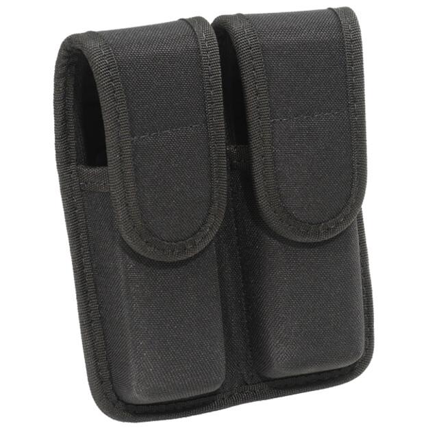 Bianchi PatrolTek 8002 Double Mag Pouch Black w/ Hidden Snap - Size 2 - Take 2