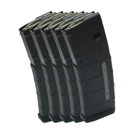 MAGPUL PMAG 30rd W/ Window GEN M2 - Black - 5 Pack