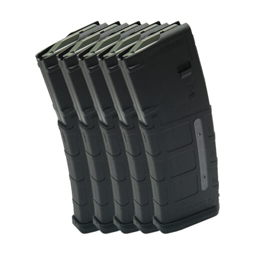 MAGPUL PMAG 30rd W/ Window GEN M2 - Black - 5 Pack
