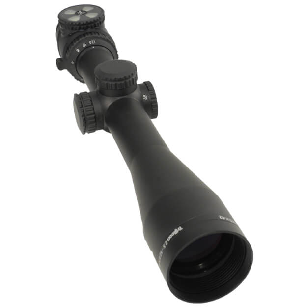 Trijicon AccuPoint 2.5-12.5x42 Riflescope w/ BAC - Green Triangle post reticle - 30mm tube