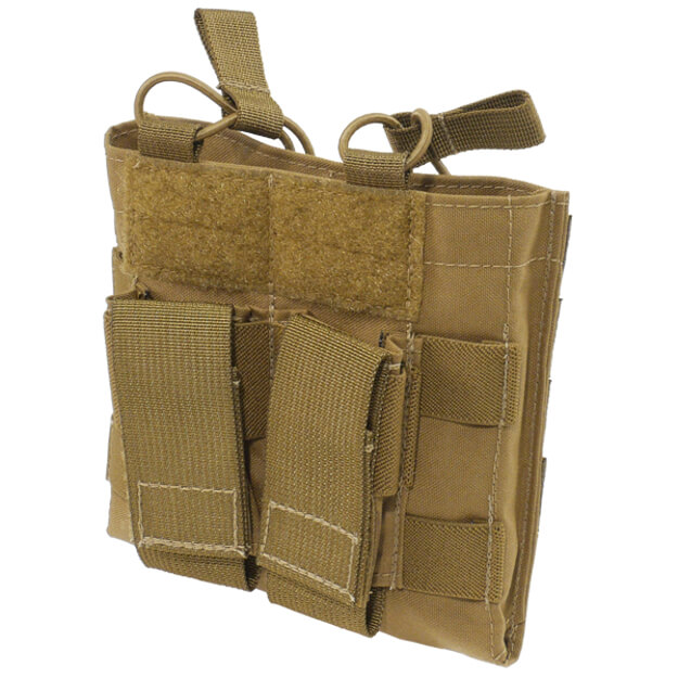 Grey Ghost Gear Double M4 and Pistol Mag Pouch - Coyote Brown