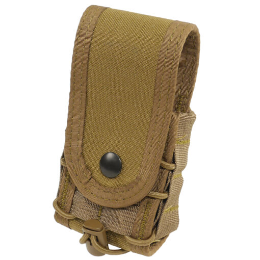 High Speed Gear Belt Mounted Handcuff Taco w/ Snap Cover - Coyote Brown