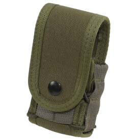 High Speed Gear Belt Mounted Handcuff Taco w/ Snap Cover - OD Green