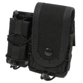 High Speed Gear Belt Mounted LEO Taco w/ Snap Cover - Black