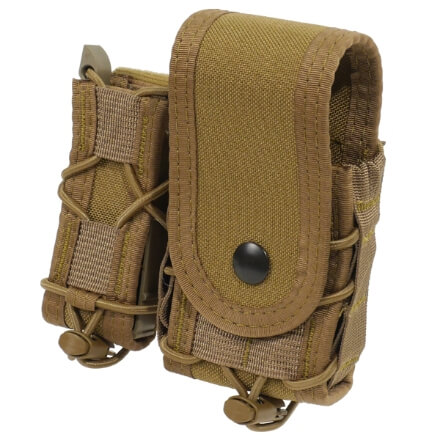High Speed Gear Belt Mounted LEO Taco w/ Snap Cover - Coyote Brown