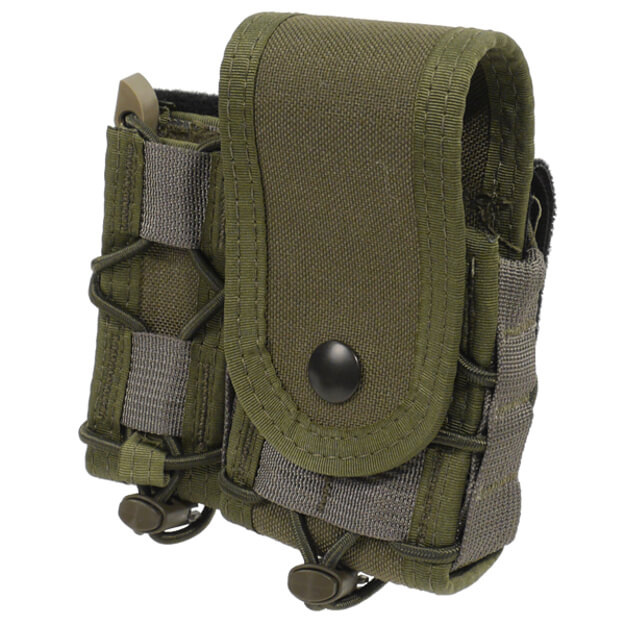 High Speed Gear Belt Mounted LEO Taco w/ Snap Cover - OD Green