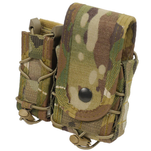 High Speed Gear Belt Mounted LEO Taco w/ Snap Cover - Multicam